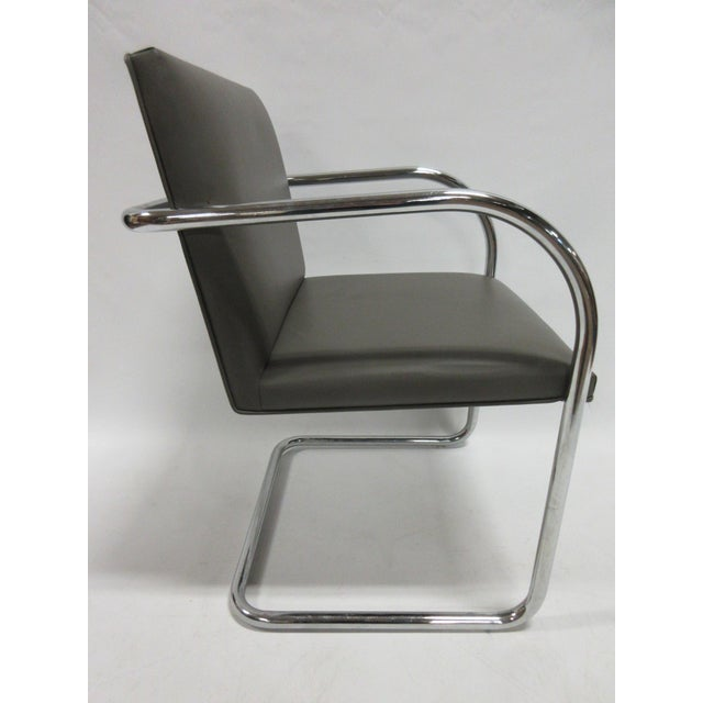 1990s Mies Van Der Rohe Brno Guest Chair in Brown - a Pair For Sale - Image 5 of 10