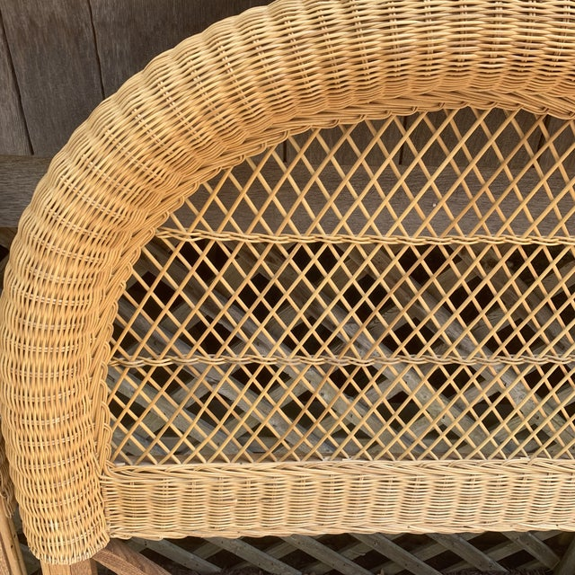 Brown Vintage Wicker Headboards- a Pair For Sale - Image 8 of 13