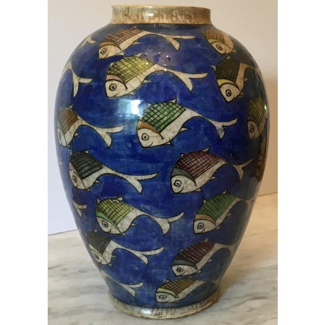 Vintage Persian Fish Vase For Sale - Image 4 of 11