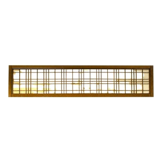 Japanese Ranma Sugi Cedar Transom Screen For Sale