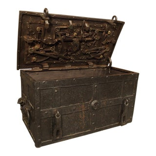 17th Century Iron Strongbox From a Ship For Sale
