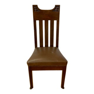 Arts & Crafts American Oak Side Chair C.1920 For Sale