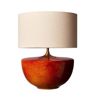 Fuji Ceramic Glaze Table Lamp For Sale