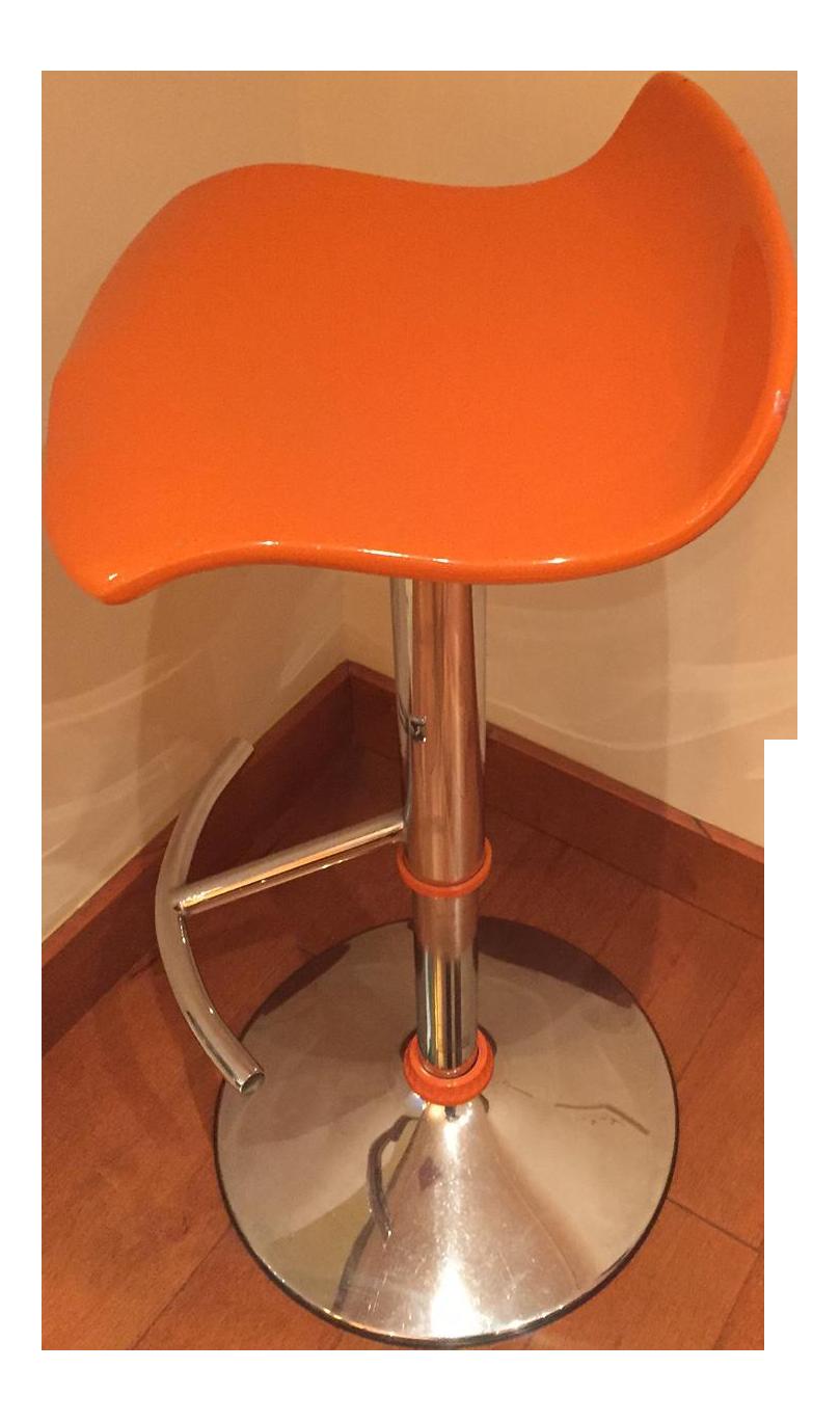 Orange Adjustable Bar Stool 36 Bar Stools4