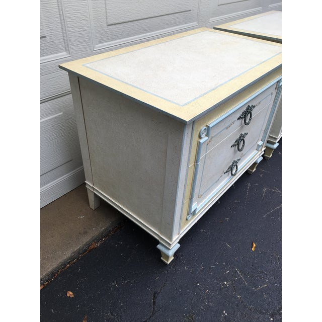 1970s Shabby Chic Johñ Widdicomb White Night Stands - a Pair For Sale In Detroit - Image 6 of 9