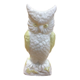 Vintage Porcelain Owl Vase For Sale