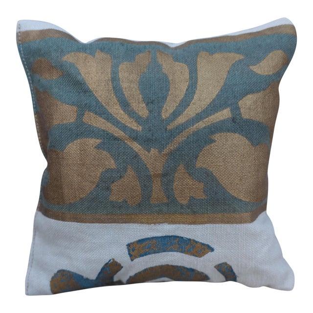 Custom Stenciled Linen Lavender Sachet For Sale