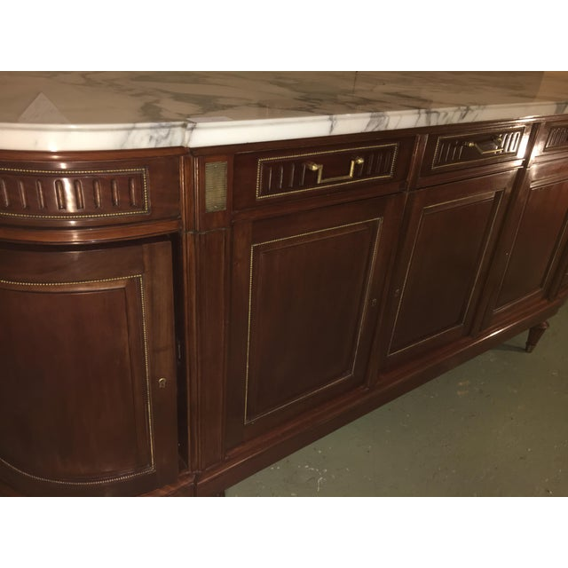 Maison Jansen Louis XV/ Directoire Style Marble Top Mahogany Sideboard - Image 3 of 9