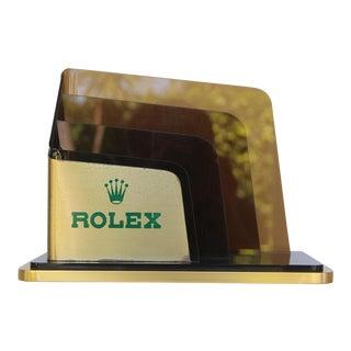 Original Rolex Letter Holder for Desk For Sale