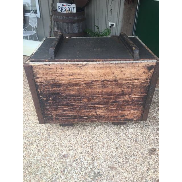Brown Antique Zinc Lined Wood Icebox For Sale - Image 8 of 8