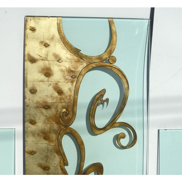 Architectural Etched & Gilded Glass Panels - Image 3 of 10