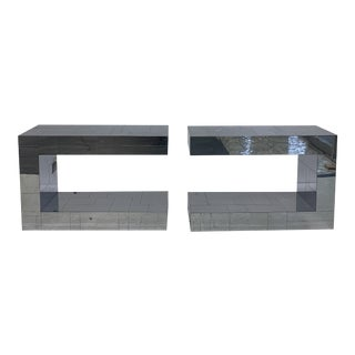 Modern Paul Evans Side Tables - a Pair For Sale
