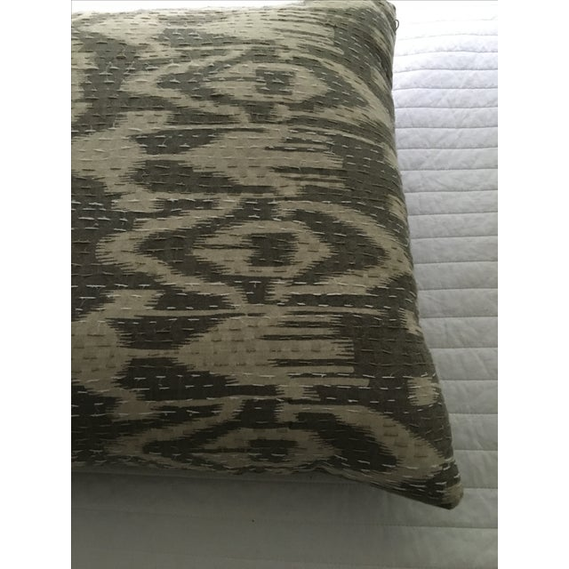 Boho Chic Indian Textile Ikat Pillow For Sale - Image 3 of 4
