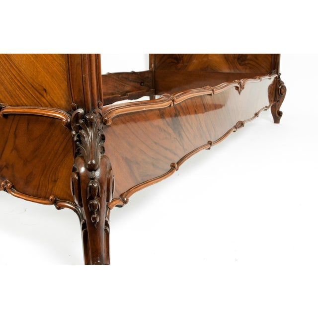 Brown Chippendale Hand Carved Mahogany Matching Single Beds - a Pair For Sale - Image 8 of 13