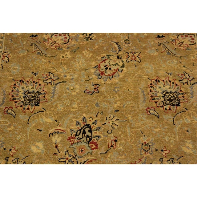 Semi Antique Istanbul Latrice Gold/Gray Turkish Hand-Knotted Rug -4'4 X 6'2 For Sale In New York - Image 6 of 8