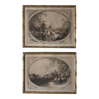 Pair 19th Century Framed Engravings For Sale
