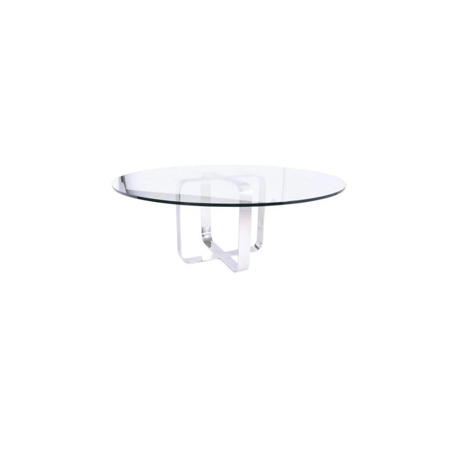 Bauhaus Gary Gutterman Stainless Steel Dining Table and Chair Set, Axius Design 1970 For Sale - Image 3 of 10