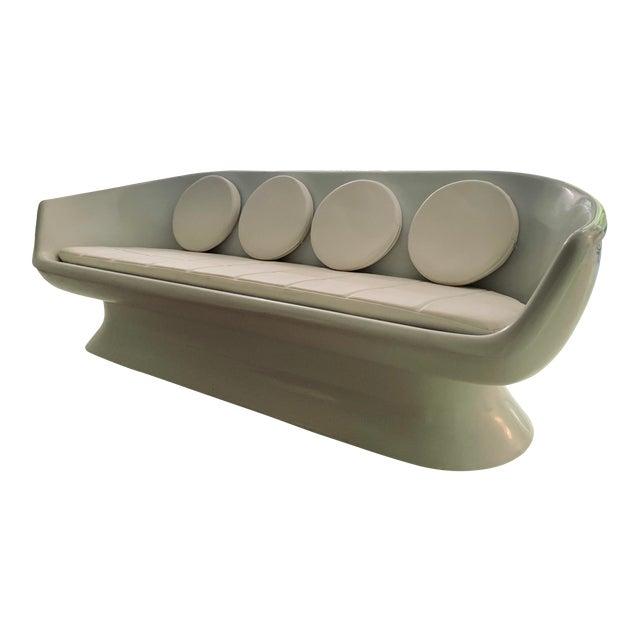 Chromcraft Fiberglass Shell Sofa For Sale