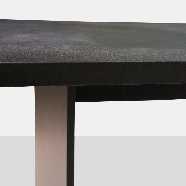 AM01 Dining Table in Leathered Granite For Sale - Image 4 of 6