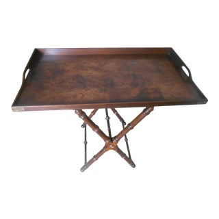 Knob Creek Burl Walnut Tea Tray Table