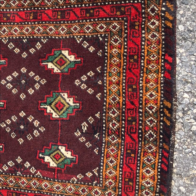 Red Patterned Persian Rug - 1′11″ × 2′9″ - Image 5 of 7