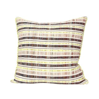 Hand Woven Textile Pillow For Sale
