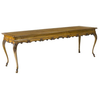 Italian Rococo Style Fruitwood Long Table For Sale