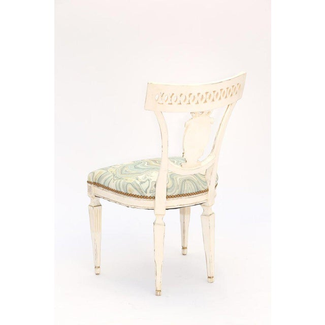 Italian Single Painted Italian Classical Style Side Chair For Sale - Image 3 of 8