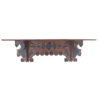 Eastlake Ebonized Walnut Shelf, C. 1880 For Sale