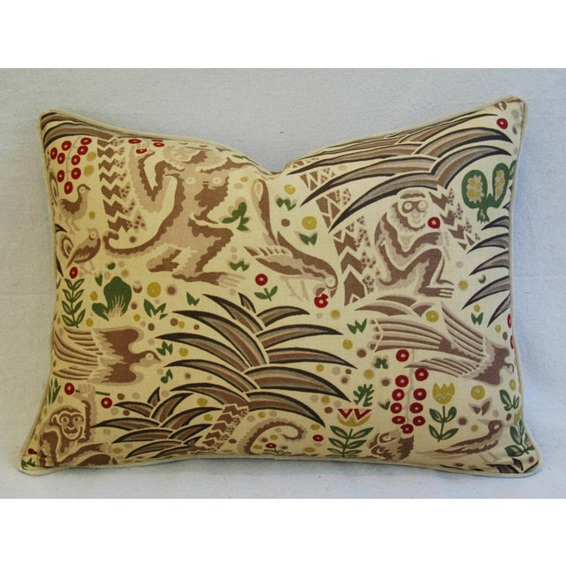 Custom Clarence House Gibbon Fabric Pillows- A Pair - Image 5 of 10