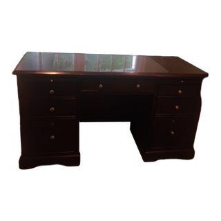 Vintage Office Desk and Two Drawer Filing Cabinet For Sale