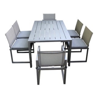 Restoration Hardware Aegean Aluminum Dining Set