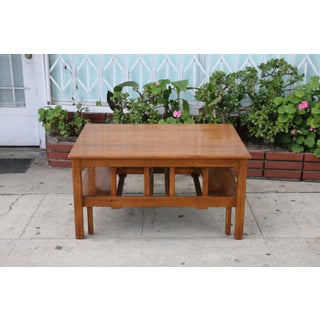 1960s Mission Oak Coffee Table Preview