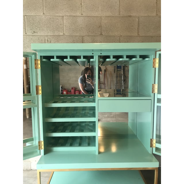 Art Deco Mid Century Modern Lacquered Storage Cabinet For Sale - Image 3 of 13