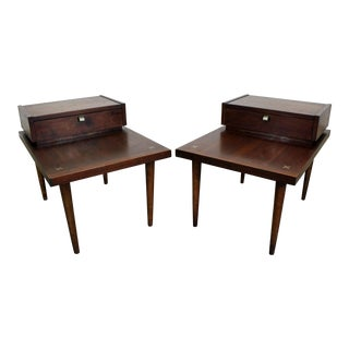 Pair of Mid-Century Modern Merton Gershun American of Martinsville End Tables For Sale