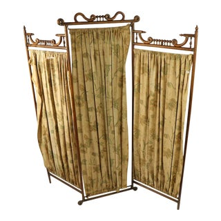 Antique Oak Stick and Ball Dressing Screen For Sale
