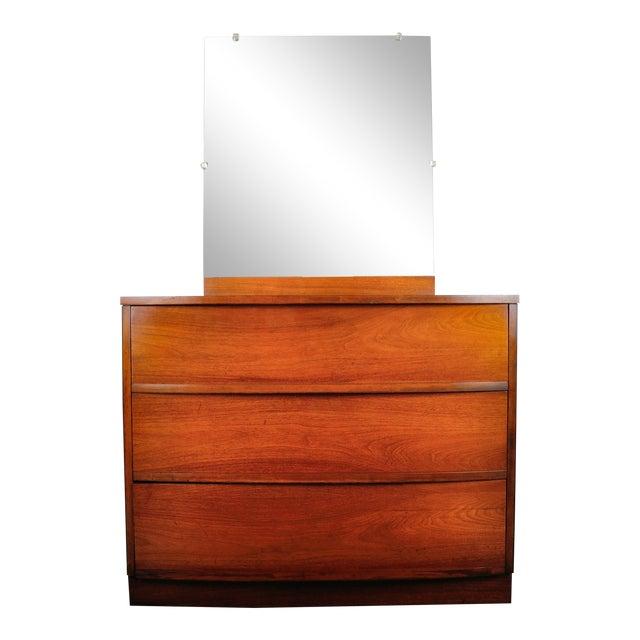 Mid-Century Modern Walnut Vanity Dresser For Sale
