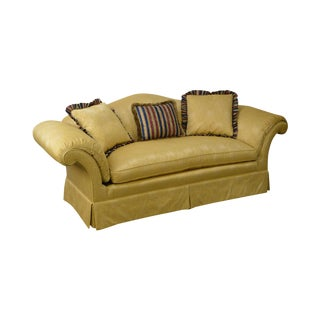 Southwood Custom Gold Upholstered Sofa (A) For Sale