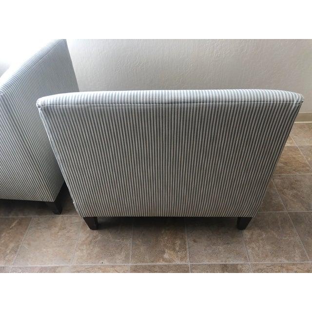 Textile Custom 3-Piece Ballard Designs Bench For Sale - Image 7 of 8