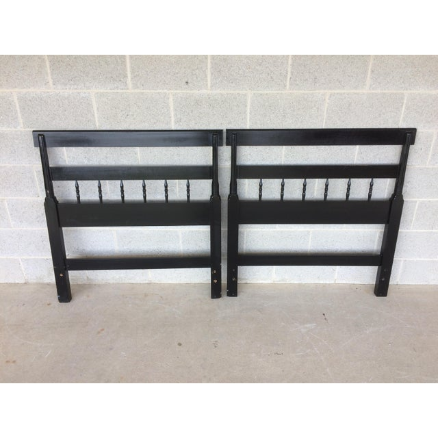 L. Hitchcock Black Twin Headboards - A Pair - Image 7 of 9