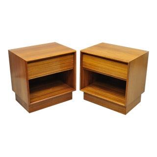 Danish Modern Teak Cube Nightstands by Danflex Systems - A Pair For Sale