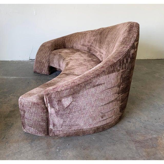 Vladimir Kagan Vladimir Kagan Style Biomorphic Post Modern Sofa For Sale - Image 4 of 6