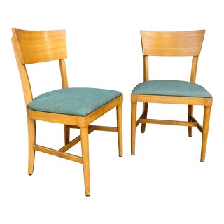 1940s Rway Bleached Mahogany Side Chairs - a Pair For Sale