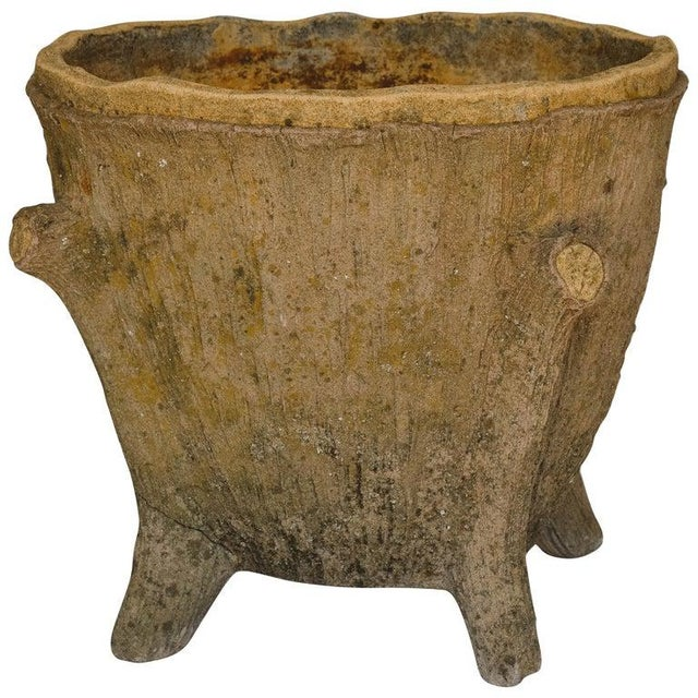 Mid 20th Century Faux Bois Planter For Sale - Image 13 of 13