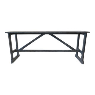 Rustic Craftsman Martin and Brockett Trestle Console Table For Sale