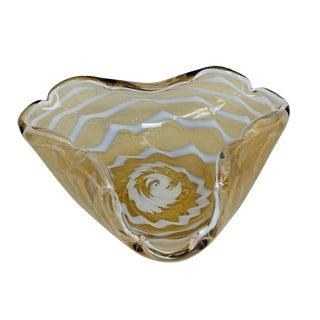 Ercole Barovier - Barovier & Toso Attr. Zebrato Bowl Ca. 1960ties For Sale