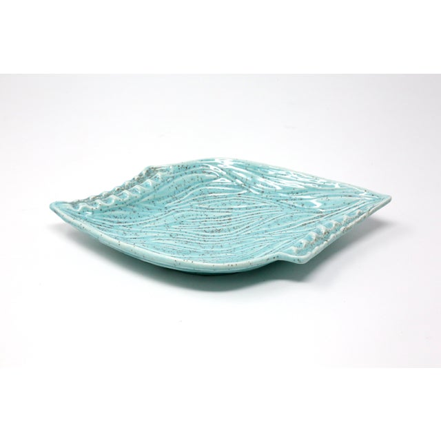 Boho Chic Vintage Turquoise California Originals Ceramic Ashtray For Sale - Image 3 of 10