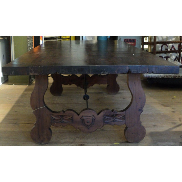 Antique Baroque Large Harvest Table - Image 5 of 11