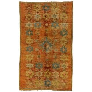 """Vintage Berber Moroccan Rug - 4'7"""" X 7'6"""" For Sale"""