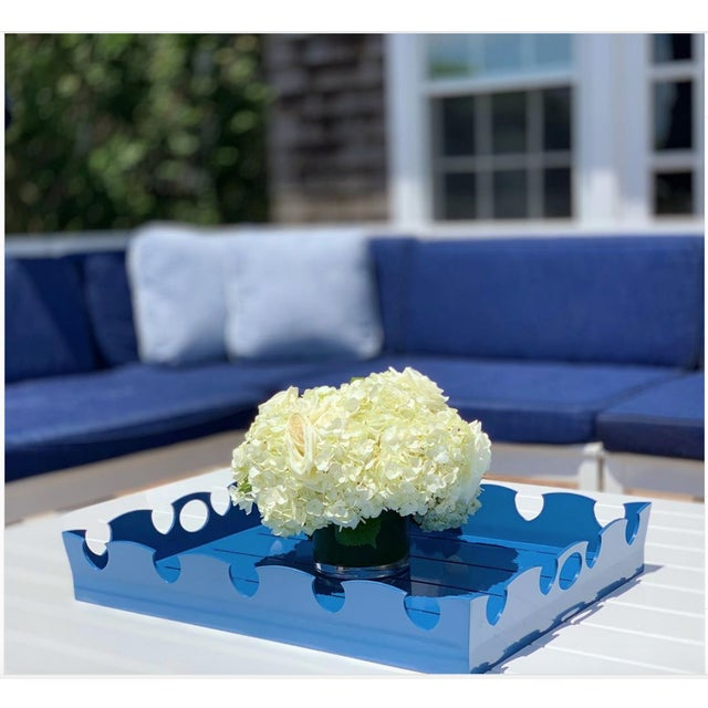 Oomph Oomph Ocean Drive Outdoor Tray, White For Sale - Image 4 of 7